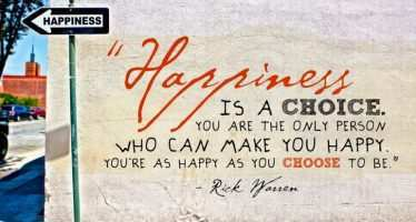 ბედნიერება არჩევანია!