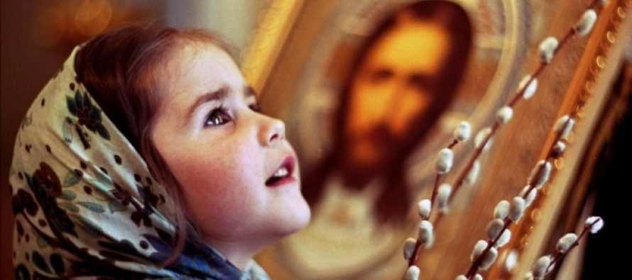 ბავშვი პირველად ეკლესიაში და ღმერთი